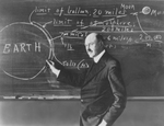 15 - Robert H. Goddard at blackboard, 1920s