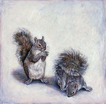 Gray Squirrels by Elli Crocker Ms.